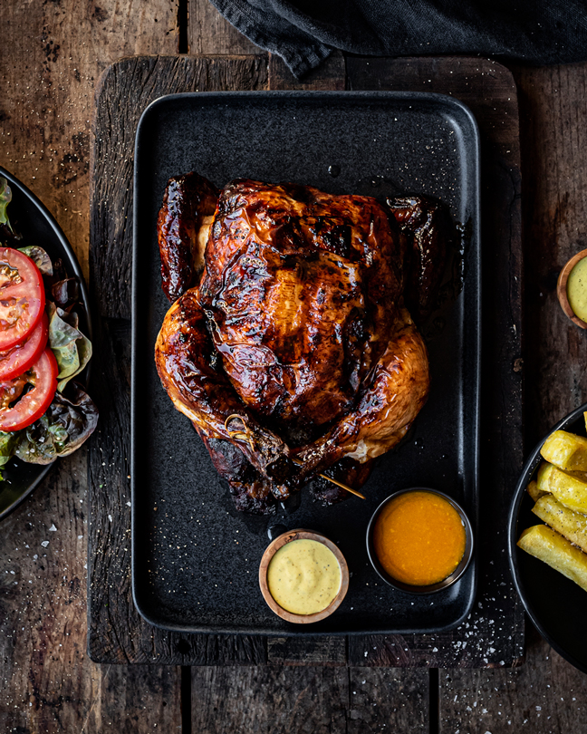 Pollo al cilindro